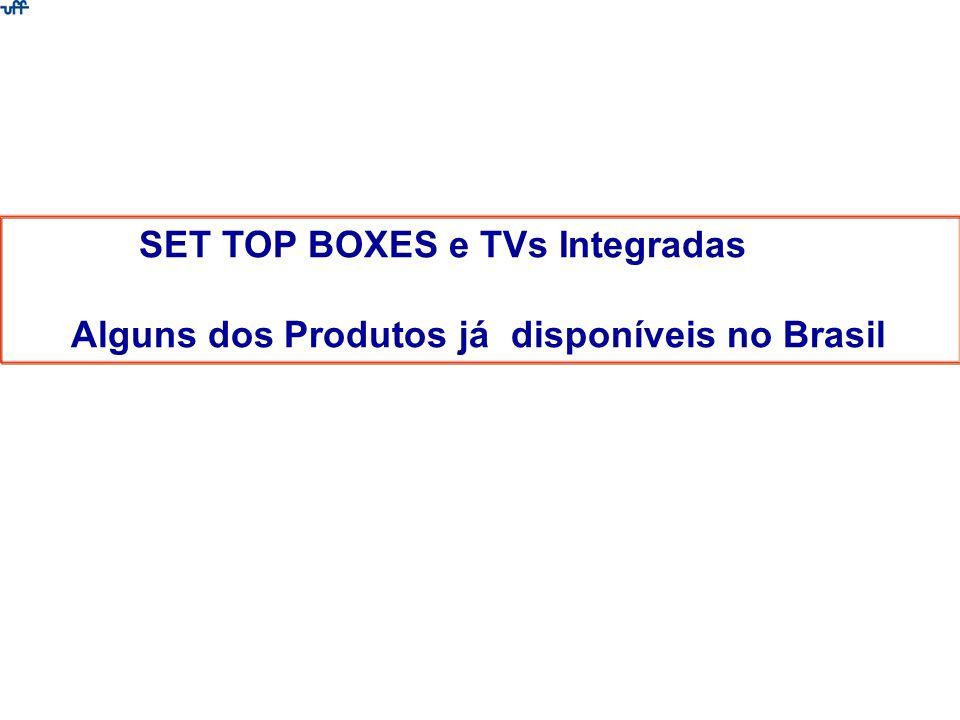 SET TOP BOXES e TVs Integradas Alguns dos Produtos já disponíveis no Brasil