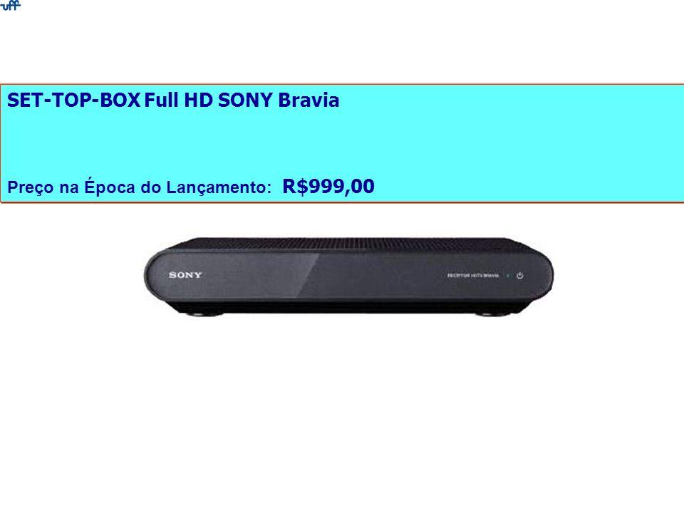 SET-TOP-BOX Full HD SONY Bravia Preço na Época do Lançamento: R$999,00