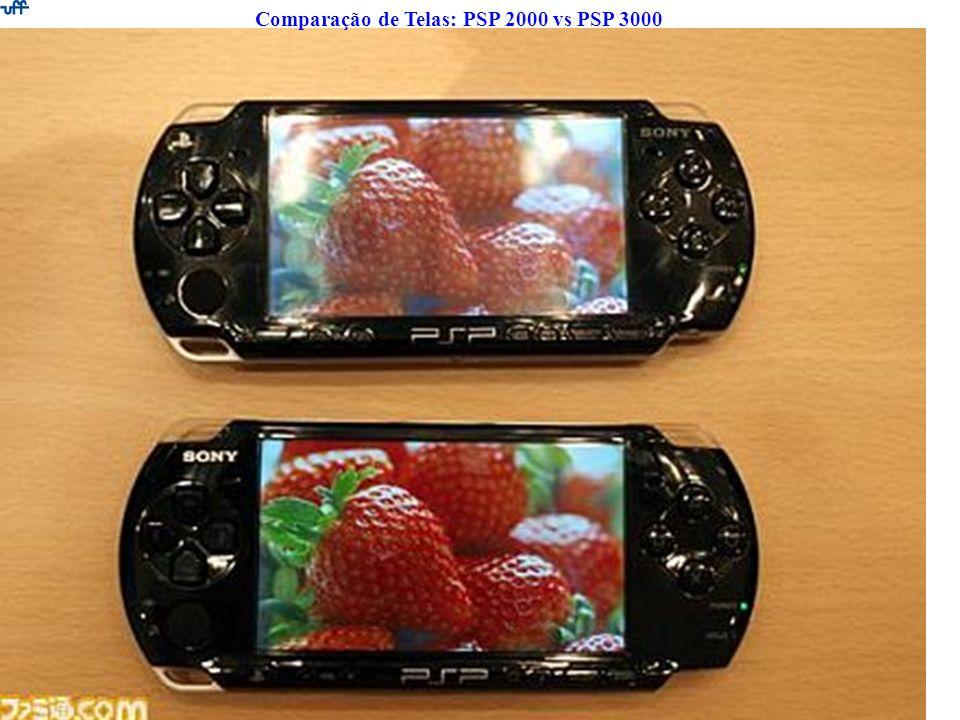 Comparação de Telas: PSP 2000 vs PSP 3000