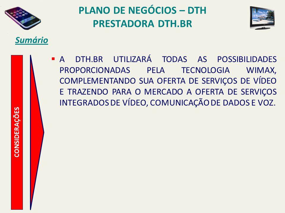 PLANO DE NEGÓCIOS – DTH PRESTADORA DTH.BR Mercado de TV por Assinatura P ACOTES TV POR ASSINATURA DIGITAL, COM VENDA FLEXIBILIZADA DE PACOTES DE PROGRAMAÇÃO (LINE-UP DE CANAIS), PERMITINDO AO ASSINANTE SELECIONAR OS CANAIS DE SUA PREFERÊNCIA, COMPONDO PACOTES PERSONALIZADOS.