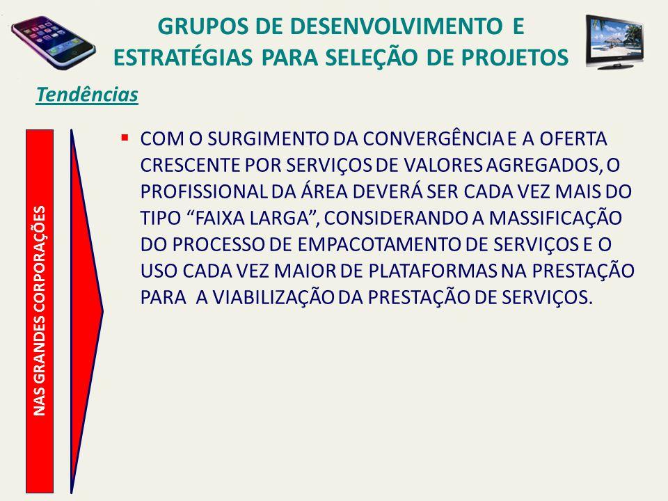 Tendências NAS MÉDIAS E PEQUENAS CORPORAÇÕES POSSIBILIDADE DA FORMAÇÃO DE UMA EQUIPE MULTIFUNCIONAL PARA O DESENVOLVIMENTO DE UM PRODUTO OU SERVIÇO, POSSUINDO A MESMA UMA COORDENAÇÃO PARA O REFERIDO PROJETO (SOLUÇÃO PARA ORGANIZAÇÕES DE MENOR PORTE OU PARA UM PROJETO ESPECIAL).