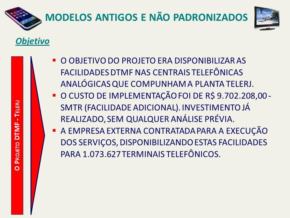MODELOS ANTIGOS E NÃO PADRONIZADOS Configuração O P ROJETO DTMF - T ELERJ CENTRAL TELEFÔNICA C OM F ACILIDADE T ONE