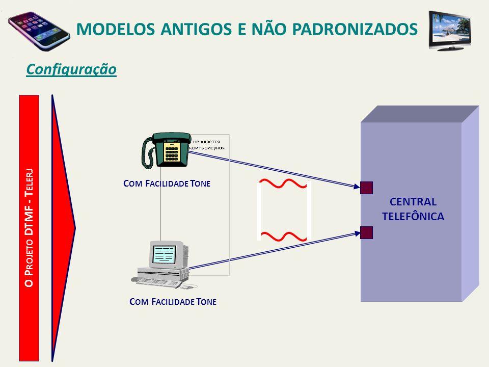 MODELOS ANTIGOS E NÃO PADRONIZADOS Reflexos O P ROJETO DTMF - T ELERJ REDUÇÃO DO TEMPO DE PROCESSAMENTO DAS CHAMADAS TELEFÔNICAS.