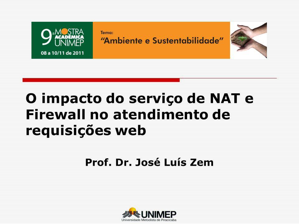 O impacto do serviço de NAT e Firewall no atendimento de requisições web Prof. Dr. José Luís Zem