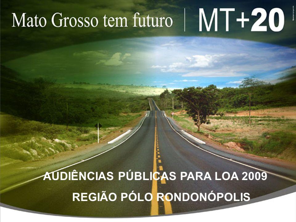 AUDIÊNCIAS PÚBLICAS PARA LOA 2009 REGIÃO PÓLO RONDONÓPOLIS