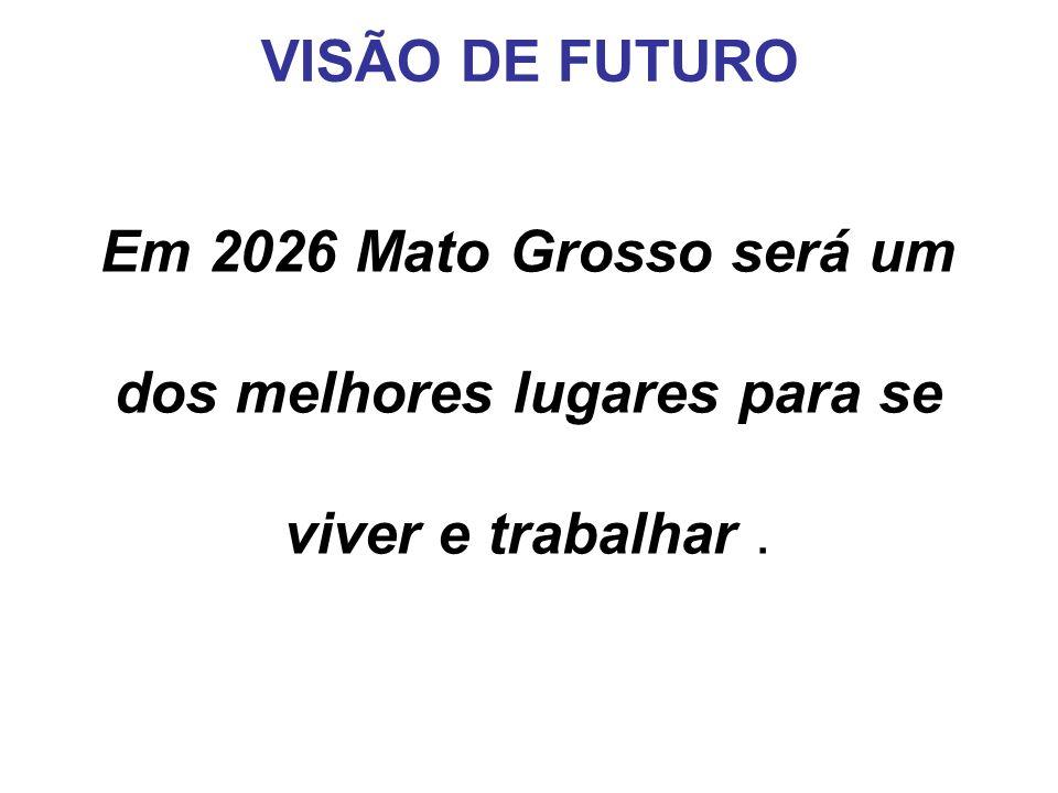 Em 2026 Mato Grosso será um dos melhores lugares para se viver e trabalhar. VISÃO DE FUTURO