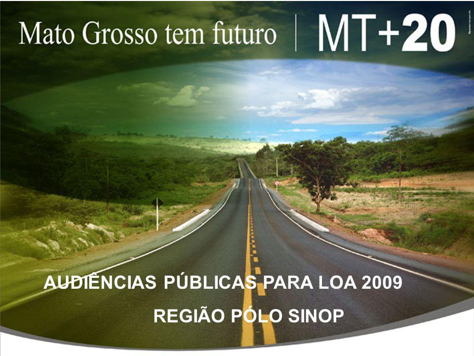 AUDIÊNCIAS PÚBLICAS PARA LOA 2009 REGIÃO PÓLO SINOP