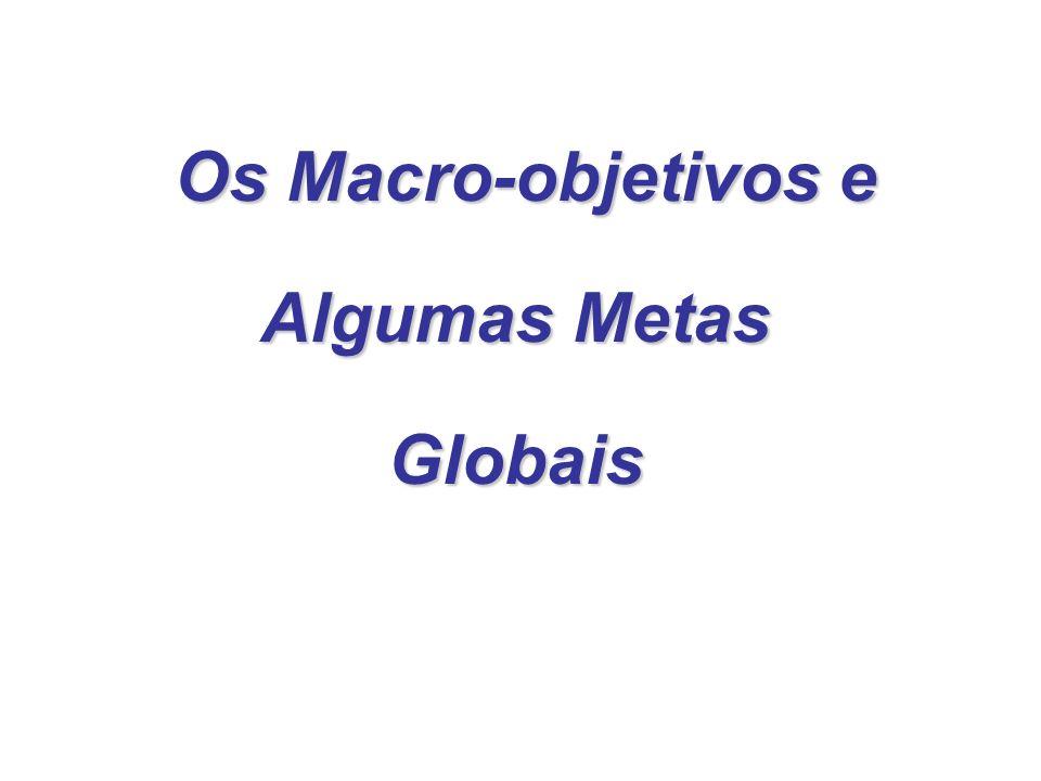 1 Macro-Objetivo Melhoria da qualidade de vida da popula ç ão.
