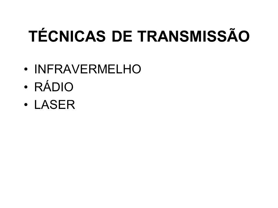 TÉCNICAS DE TRANSMISSÃO INFRAVERMELHO RÁDIO LASER