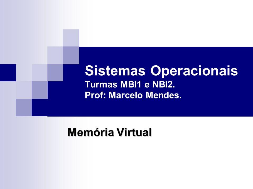 Sistemas Operacionais Turmas MBI1 e NBI2. Prof: Marcelo Mendes. Memória Virtual