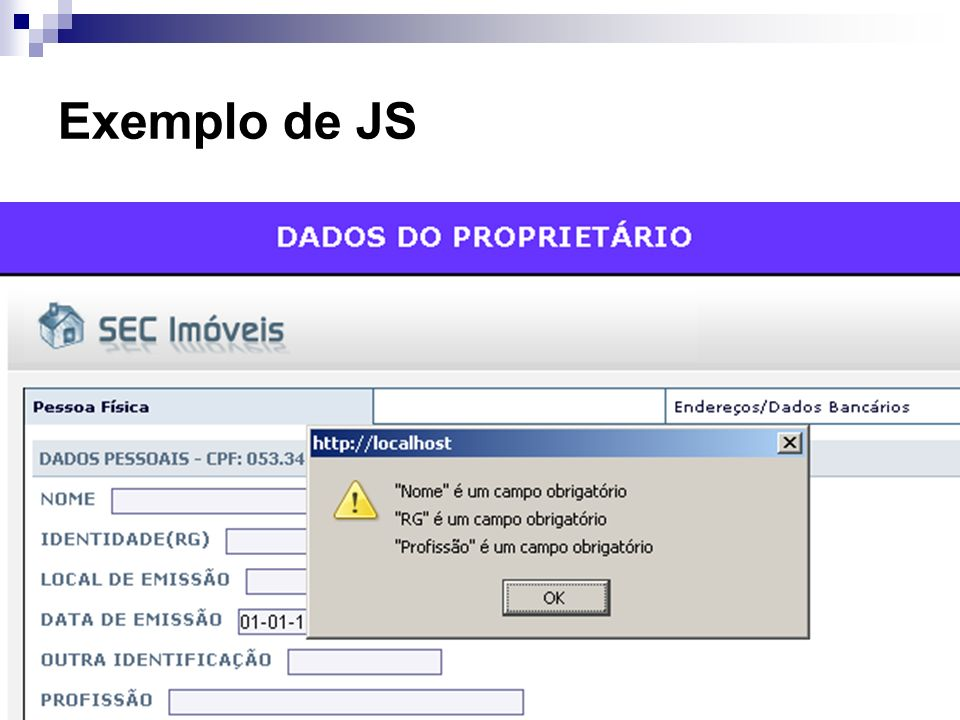 Exemplo de JS