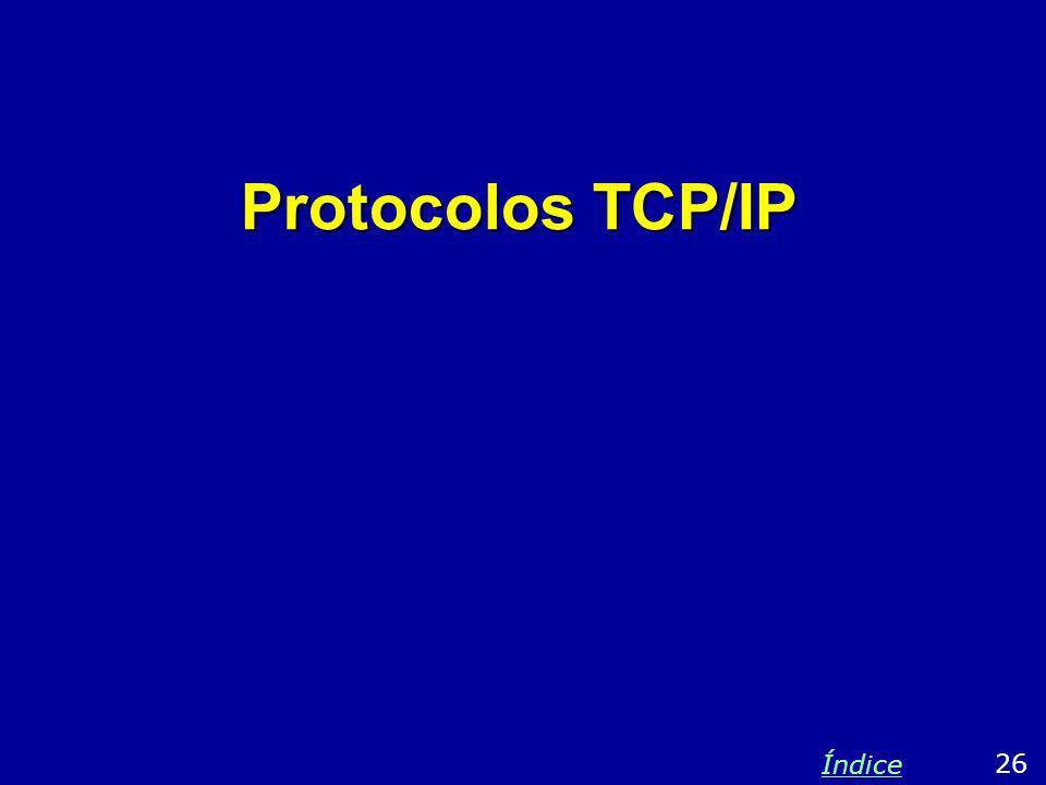 Protocolos TCP/IP 26 Índice