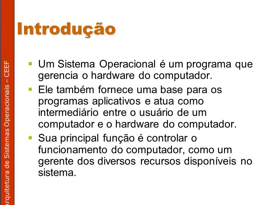 Processos Um conceito chave da teoria dos sistemas operacionais é o conceito de processo.