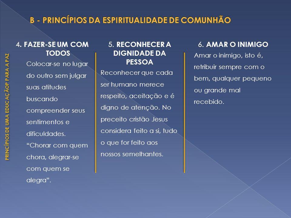 PRINCÍPIOS DE UMA EDUCAÇÃOP PARA A PAZ A partir destes princípios pode-se desmascarar a concepção de violência considerada como algo demoníaco, como lhe é popularmente atribuído.