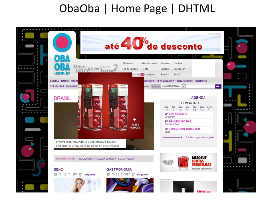 ObaOba | Home Page | DHTML