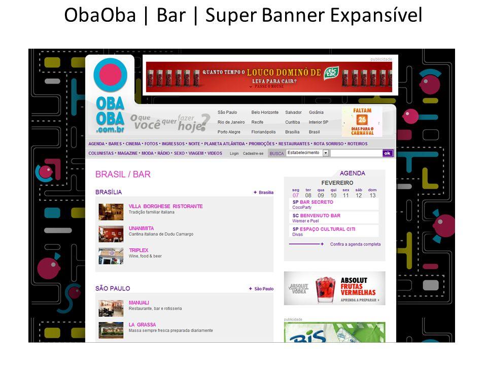 ObaOba | Bar | Super Banner Expansível
