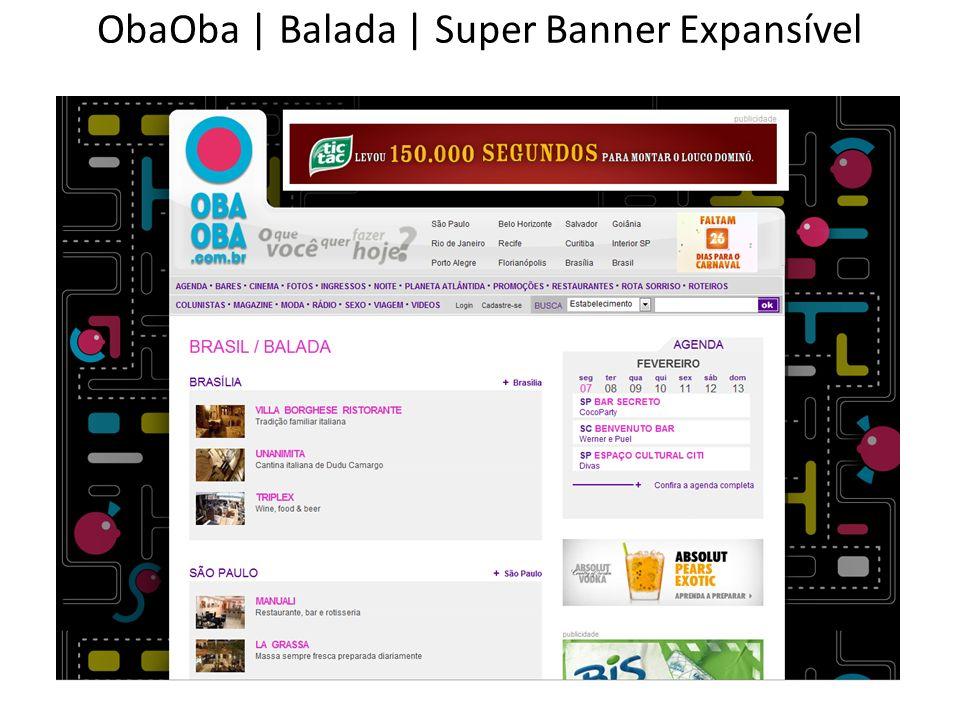 ObaOba | Balada | Super Banner Expansível