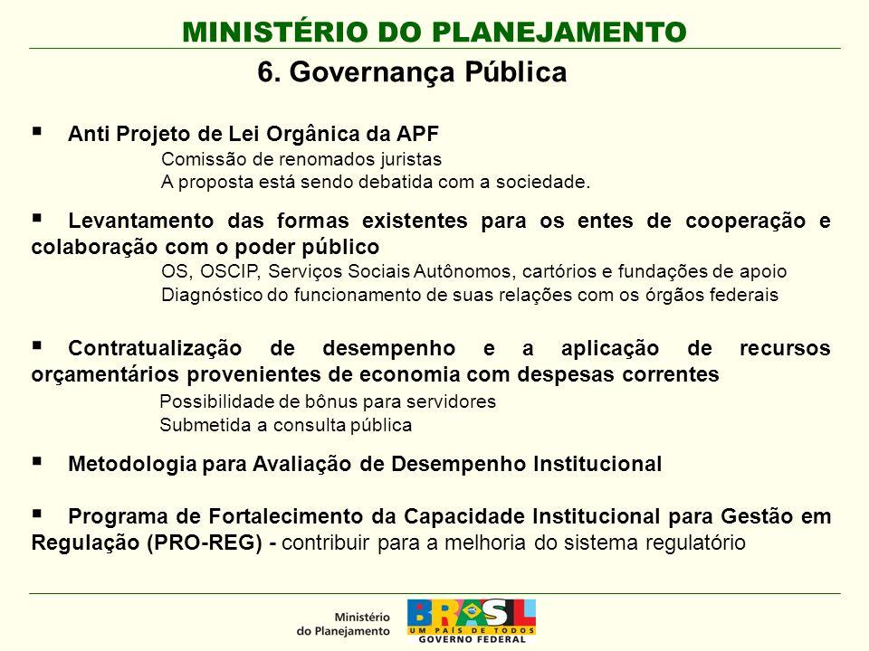 MINISTÉRIO DO PLANEJAMENTO 6.