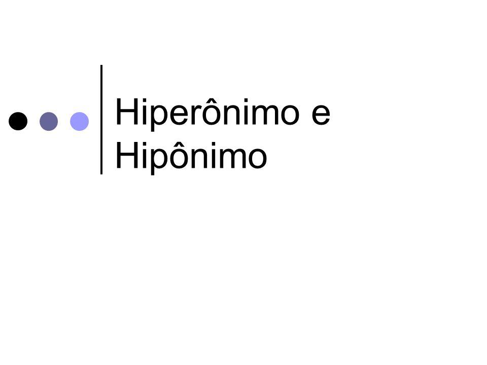 Hiperônimo e Hipônimo