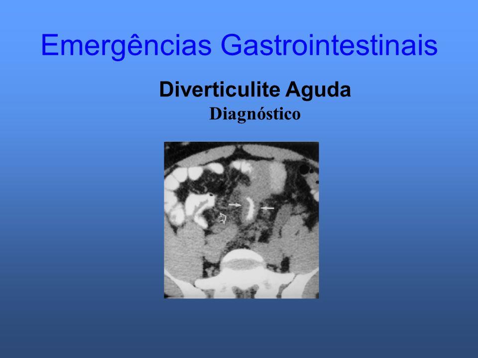 Emergências Gastrointestinais Diverticulite Aguda Diagnóstico