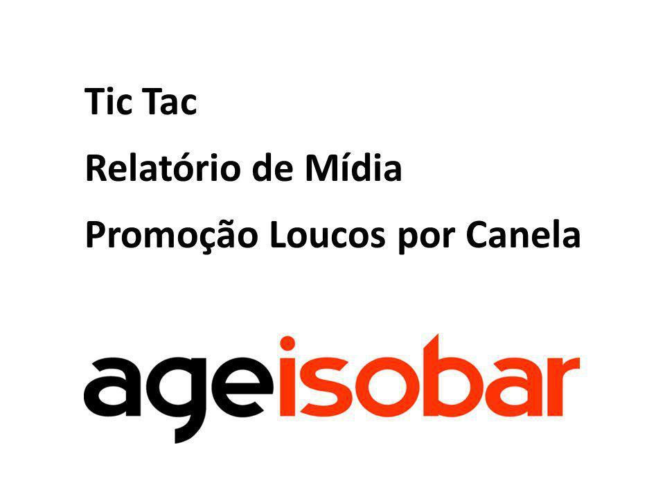 Análise da campanha Loucos por Canela TicTac, no período de 29/01 a 13/03/11.