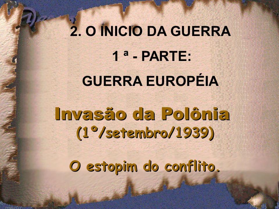 1.2 Pacto de não – agressão (Ribentropp – Molotov) – Alemanha / URSS. A precaução de Adolf Hitler antes da invasão da Polônia. Era preciso evitar uma