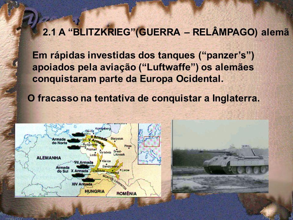 2. O INICIO DA GUERRA 1 ª - PARTE: GUERRA EUROPÉIA Invasão da Polônia (1º/setembro/1939) O estopim do conflito. Invasão da Polônia (1º/setembro/1939)