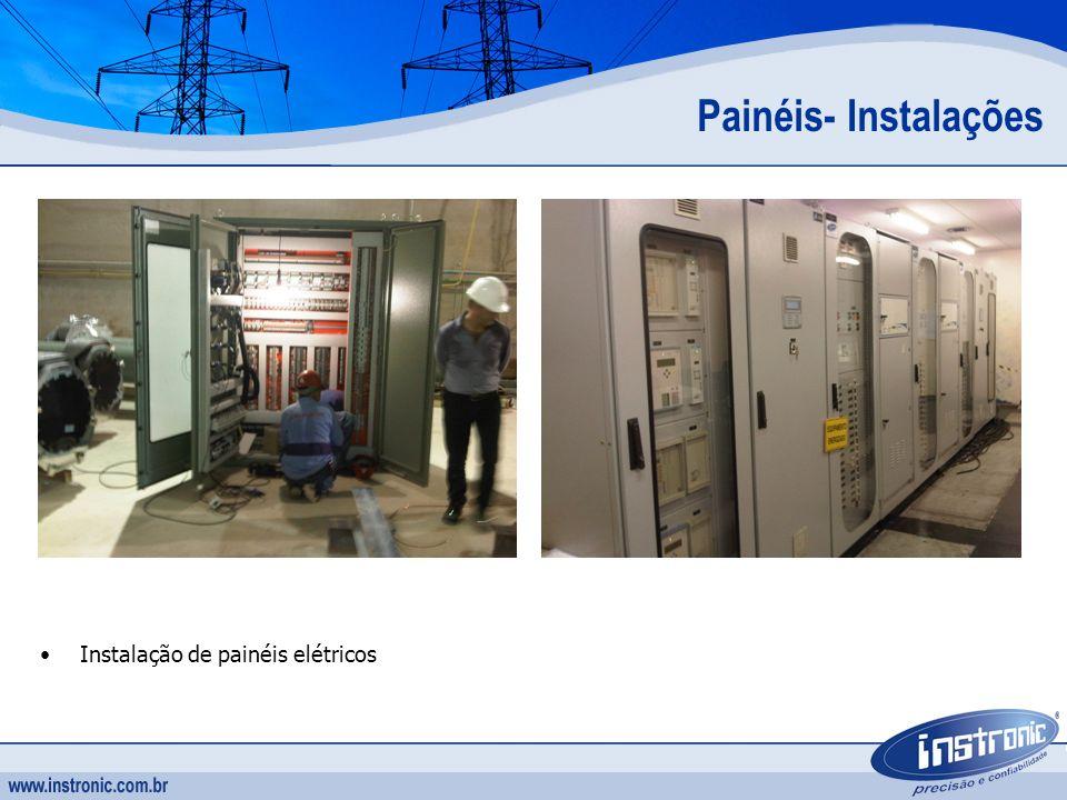 Instalação de painéis elétricos Painéis- Instalações