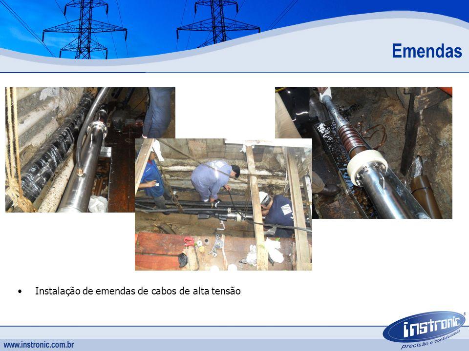 Instalação de emendas de cabos de alta tensão Emendas