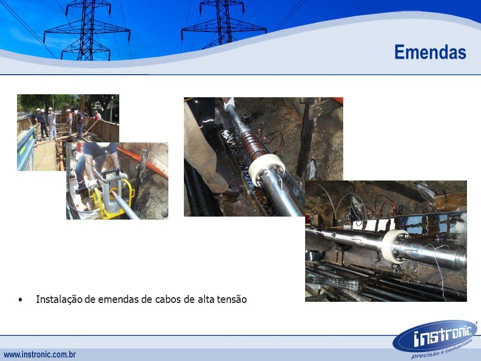 Instalação de emendas de cabos de alta tensão