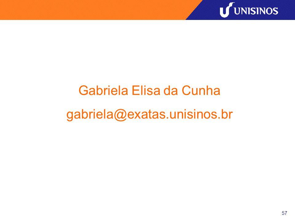 57 Gabriela Elisa da Cunha gabriela@exatas.unisinos.br