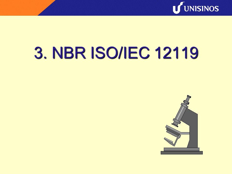 3. NBR ISO/IEC 12119
