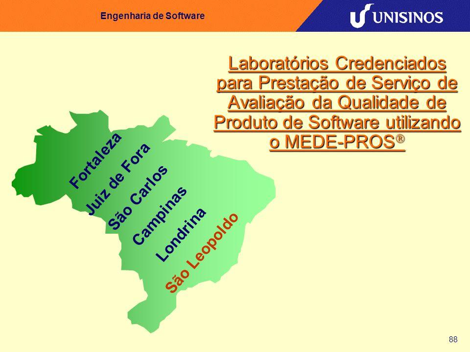 88 Engenharia de Software Laboratórios Credenciados para Prestação de Serviço de Avaliação da Qualidade de Produto de Software utilizando o MEDE-PROS