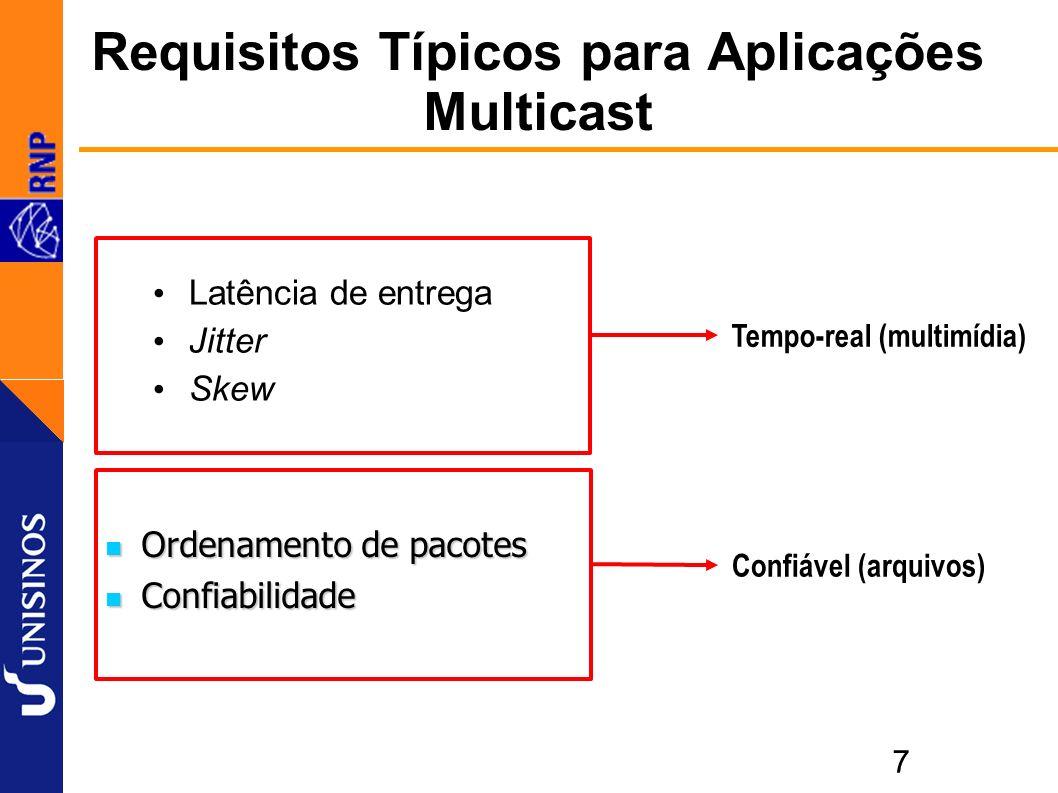 18 Taxas 1:1 – origem MG Ligado diretamente no POP-RJ, mesmo assim, desempenho baixo (7,5 Mbit/s) Ligado diretamente no POP-RJ, mesmo assim, desempenho baixo (7,5 Mbit/s)