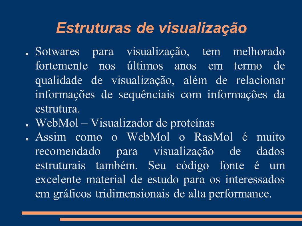 Estruturas de visualização Sotwares para visualização, tem melhorado fortemente nos últimos anos em termo de qualidade de visualização, além de relaci