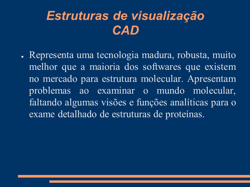Estruturas de visualização CAD Representa uma tecnologia madura, robusta, muito melhor que a maioria dos softwares que existem no mercado para estrutu