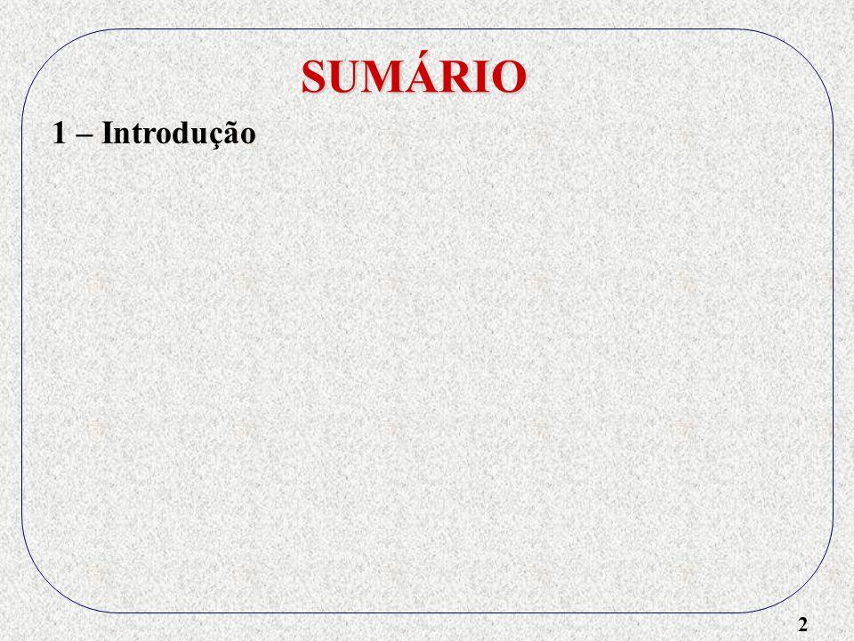 2 SUMÁRIO 1 – Introdução