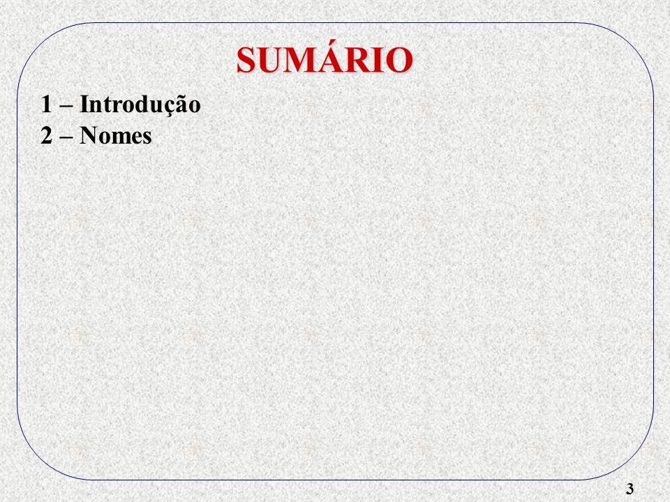 3 SUMÁRIO 2 – Nomes