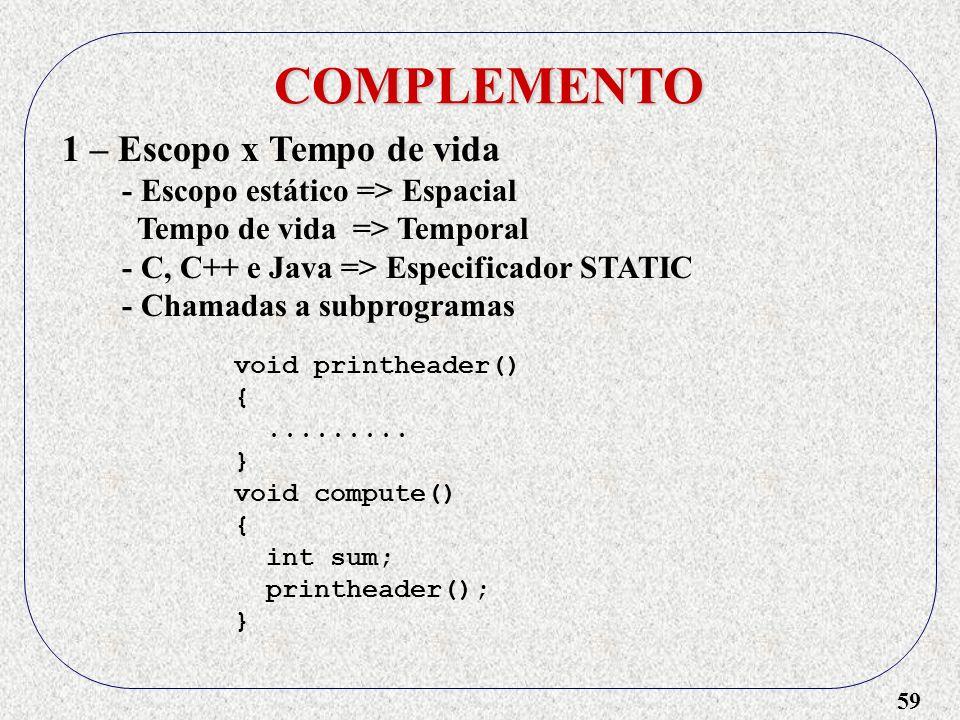59 COMPLEMENTO void printheader() {.........