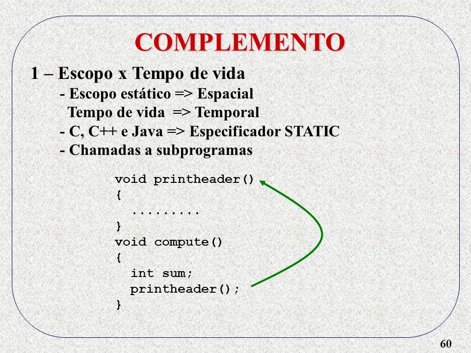 60 COMPLEMENTO void printheader() {.........