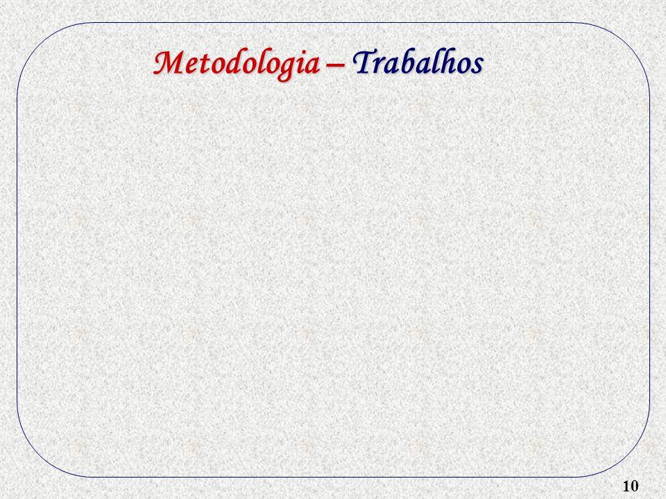 10 Metodologia – Trabalhos