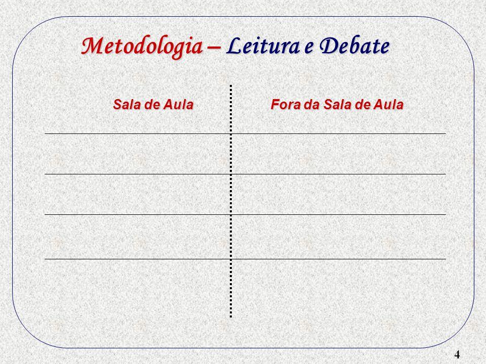 4 Metodologia – Leitura e Debate Sala de Aula Fora da Sala de Aula