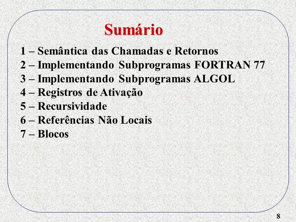 19 procedure sub(var total : real; part : integer); var lista : array[1..5] of integer; soma : real; begin...