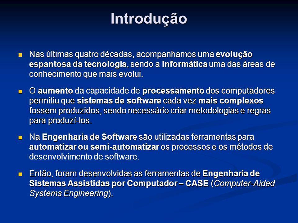 Problema e Justificativa Um dos destaques de ferramentas CASE no Brasil é o Oracle Designer, sendo considerado a melhor ferramenta disponível no mercado, conforme pesquisa realizada pelo Governo da Bahia (ROCHA & RASKIN, 2002).