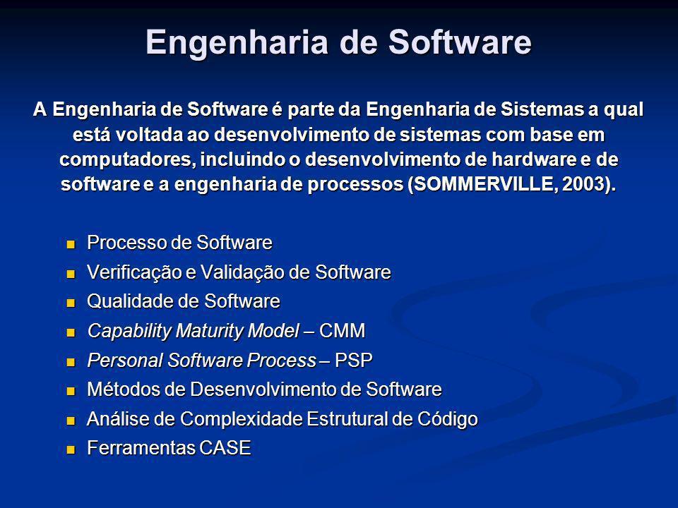 Engenharia de Software A Engenharia de Software é parte da Engenharia de Sistemas a qual está voltada ao desenvolvimento de sistemas com base em compu