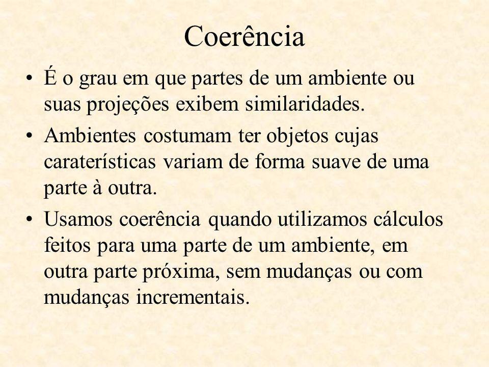 Coerência É o grau em que partes de um ambiente ou suas projeções exibem similaridades.