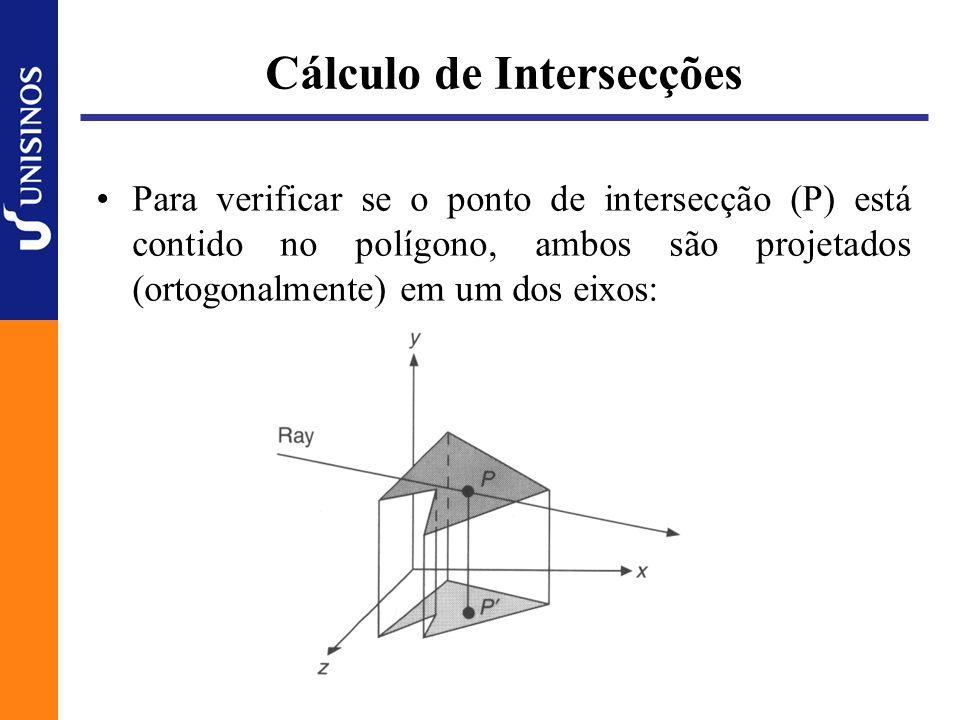 Considerações de Eficiência O algoritmo clássico é lento A cada raio lançado, a intersecção com cada um dos objetos que compõe a cena é calculada