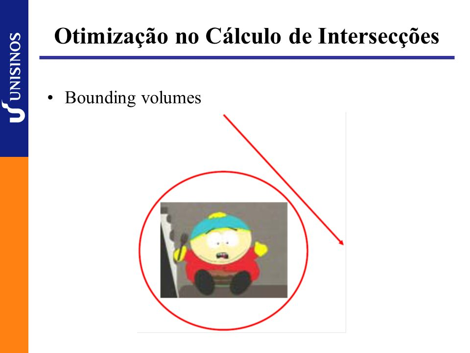 Otimização no Cálculo de Intersecções Bounding volumes