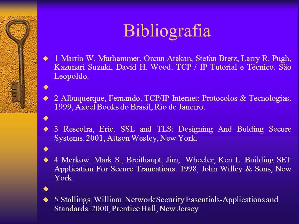 Bibliografia 1 Martin W. Murhammer, Orcun Atakan, Stefan Bretz, Larry R. Pugh, Kazunari Suzuki, David H. Wood. TCP / IP Tutorial e Técnico. São Leopol