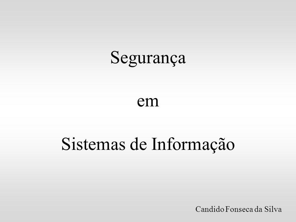 Segurança em Sistemas de Informação Candido Fonseca da Silva
